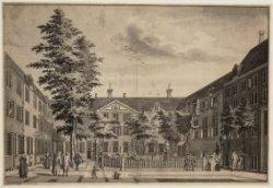 De binnenplaats van het Evangelisch Luthers Weeshuis,  Lauriergracht 116