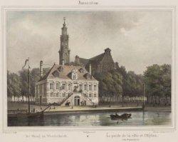 De Waag en Westerkerk/ Le Poids de la Ville et l'Eglise (dit Westerkerk