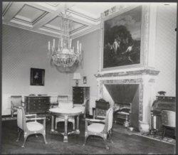 Nieuwezijds Voorburgwal 147, Paleis op de Dam, interieur salon met boven de haar…