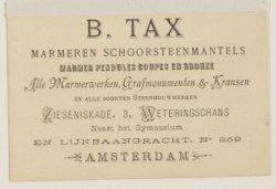 B. Tax, marmeren schoorsteenmantels, marmer pendules coupes en bronze [...]