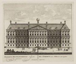 Het Stadhuis, van Achteren; aan te sien