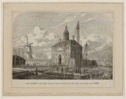 Het terrein van het Paleis voor Volksvlijt bij den aanvang van 1859