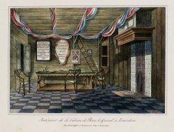 Intérieur de la Cabane de Pierre le Grand, à Zaandam