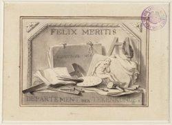 Een zinnebeeldige voorstelling voor het Departement van Tekenkunde in het Felix …