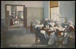 Oud-wezenkamer van het Burgerweeshuis, Kalverstraat 92. Uitgave N.J. Boon, Amste…