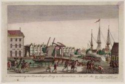 Overmeestering der Kattenburgerbrug te Amsterdam, den 30 mei de jaars 1787