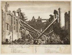 Origineele Afbeelding van de Overblijfsels van den Amsterdamschen Schouwburg