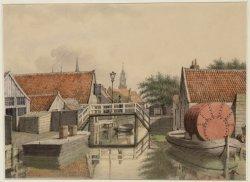 Lange Bleekerssloot met het bruggetje tussen Lange Bleekerspad en Korte Bleekers…