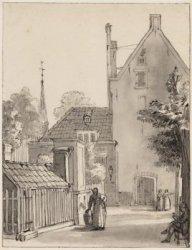 Het Gasthuishof met de Gasthuiskerk