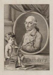 Portret van musicus Bartholomeus Ruloffs (1741-1801), onder andere orkestmeester…