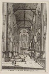 De Kerk van Binnen na ''t Orgel te Zien