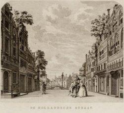 Het toneel van de oude schouwburg aan het Leidseplein met het decor 'De Hollands…