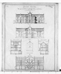 Ontwerp van woningen voor de ambtenaren der westelijke doksluizen en der houthav…