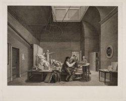 Teken Zaal in het gebouw der Maatschappyë Felix Meritis binnen Amsterdam
