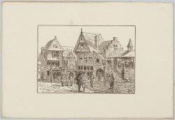 Het Oud-Hollands stadje op de Wereldtentoonstelling van het Hotel- en Reiswezen …