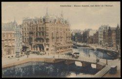 Hotel l'Europe, Nieuwe Doelenstraat 2, rechts de Amstel, links de Oude Turfmarkt…