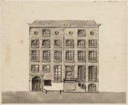 Het gebouw van Grootboek der Nationale Schuld aan de Oude Turfmarkt nummer 127. …