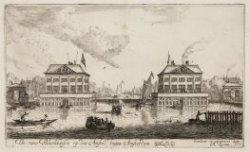 De twee Blockhuisen op den Amstel buiten Amsterdam. Gemaakt Ano. 1651. Afgebrook…