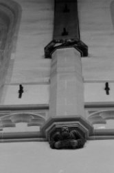 Dam 12, Nieuwe Kerk, detail interieur