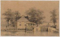 Stadhouderskade 43-46, Het Polderhuis met op de voorgrond de Boerenwetering