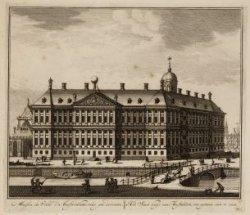 Maison de Ville d'amsterdam, veue par derriere. Het Stad huys van Amsteldam van …