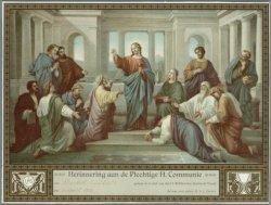 Herinnering aan de eerste heilige communie van Elisabeth Eickholt in de kerk van…