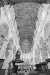 Nieuwezijds Voorburgwal 143, Nieuwe Kerk, interieur gezien naar het koor