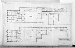 Ontwerptekeningen met aanzichten, plattegronden, doorsneden en silhouet; nr. 10
