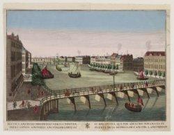 Fluvius Amstelli prospiciens versus pontem inclusionis Amstelli Amstellodamensis…