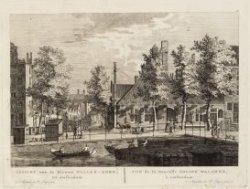 Gezicht van de Nieuwe Waalen-Kerk, tot Amsterdam