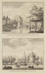 De Schryers Tooren te Amsterdam, van de Geldersche Kaay te zien / De Schryers To…