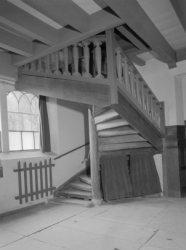 Singel 411, trap in de Oude Lutherse Kerk