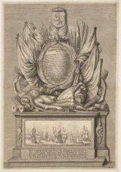 Grafmonument voor de vlootvoogd Johan van Galen (1604-1653), tijdens de Eerste E…