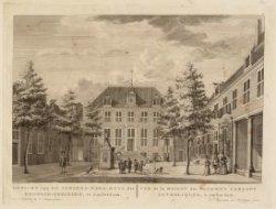 Gezicht van het Jongens-Wees-Huys der Roomsch-Gezinden, te Amsterdam