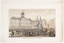 Plechtige intocht van Koning Willem III