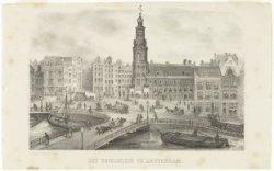 Het Sophiaplein of Muntplein, gezien in zuidelijke richting naar de Munttoren en…