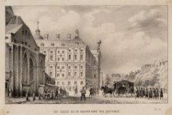 Het Paleis en de Nieuwe Kerk van achteren