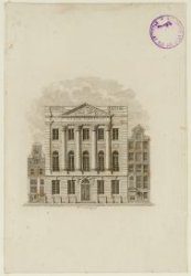 Het verenigingsgebouw Felix Meritis aan de Keizersgracht nummer 324 met links nu…