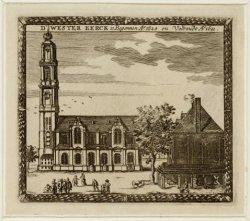 De Westerkerk aan Prinsengracht 279-281 gezien uit zuidelijke richting