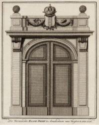 De Vernieuwde Raampoort te Amsterdam van buyten te zien 1776