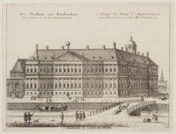 Het Stadhuis van Amsterdam, Van Achteren en ten Zuiden gezien