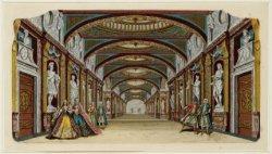 Decor van de hofgalerij in de Amsterdamsche Schouwburg, Keizersgracht 384. Techn…