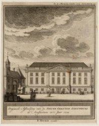 Origineele Afbeelding van de Nieuwe Gebouwde Schouwburg te Amsterdam in 't Jaar …