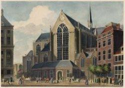 De Nieuwe Kerk, van de Damzijde gezien