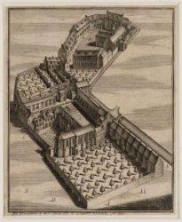 De kloosters van de Oude en Nieuwe Nonnen tussen de Kloveniersburgwal en Grimbur…