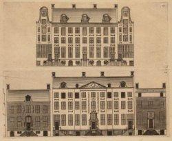 Voorgevels van huizen aan de Heren- en Keizersgracht