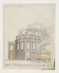 De brand in de Lutersche nieuwe Kerk 18 sept.1822 s'middags half drie