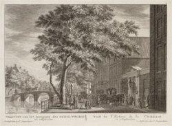 Gezicht van het Aangaan des Schouwburgs Te Amsterdam