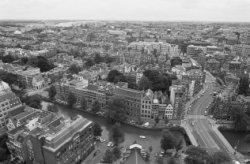 Panorama vanaf vanaf de toren van de Westerkerk in oostelijke richting