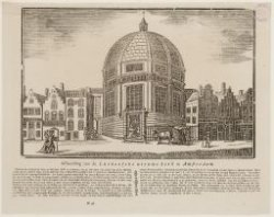Afbeelding van de Luthersche nieuwe kerk te Amsterdam